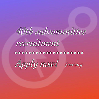 40th JSECS Sub-Committee Recruitment