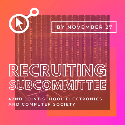 42nd JSECS Sub-Committee Recruitment